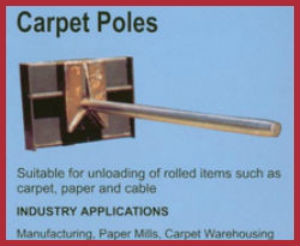 carpet poles forklift attachment
