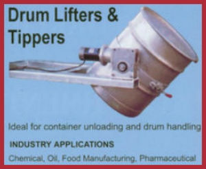 drum lifters and tippers forklift attachment