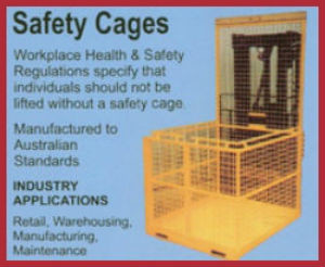 safety cages forklift attachment